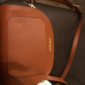 Steve Madden cognac crossbody purse